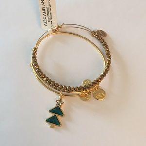 Alex and Ani Crystal Christmas Tree Bracelets